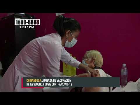 Segunda jornada de vacunación voluntaria contra el Covid-19 en Chinandega - Nicaragua