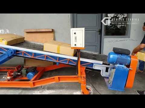 Loading Barang Lebih Mudah dengan Mesin Conveyor Portable
