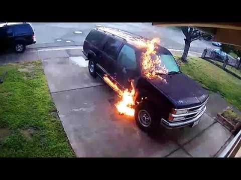 connectYoutube - Man set SUV on fire in Stockton