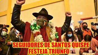 SEGUIDORES DE SANTOS QUISPE FESTEJAN TRIUNFO DE EN CHACALTAYA