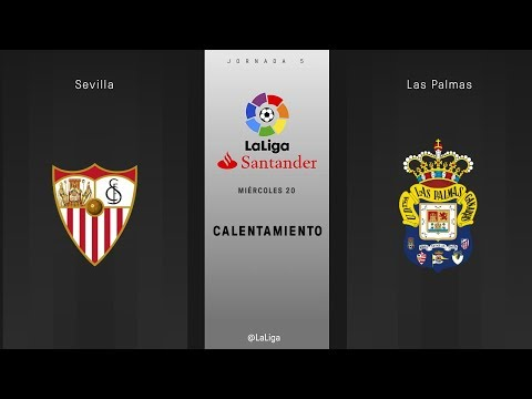 Calentamiento Sevilla vs Las Palmas