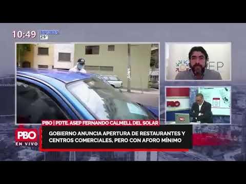 Pdte. ASEP FERNANDO CALMELL DEL SOLAR sobre AFORO MÍNIMO