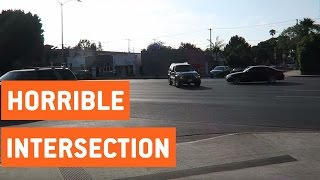 Worst Intersection in Los Angeles | Typical LA Drivers