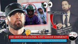 ???? Did WestsideGunn Just Shade Eminem! Source Issues Apology For Eminem Surprise Album Drop Tip