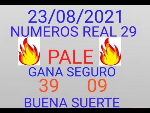 NUMEROS PARA HOY 23/08/2021 DE AGOSTO PARA TODAS LAS LOTERIAS¡¡¡¡NUMEROS REAL 29