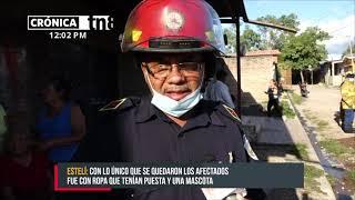 Voraz incendio deja a la intemperie a pareja de ancianos en Estelí