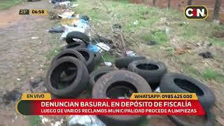 Denuncian basural en depósito de la Fiscalía en Ciudad del Este