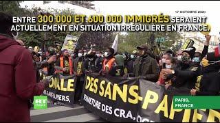 A Paris, des centaines de personnes exigent la régularisation des sans-papiers