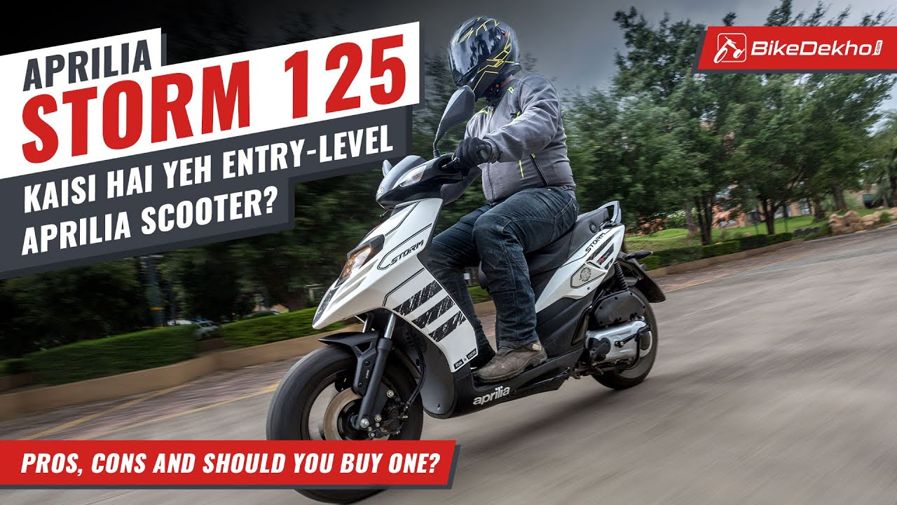 Aprilia Storm 125   Pros, Cons, And Should You Buy One?   Most Approachable Aprilia   In Hindi