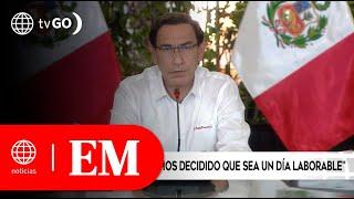 El presidente Martín Vizcarra anunció que el 8 de octubre será día laborable| Edición Mediodía (HOY)