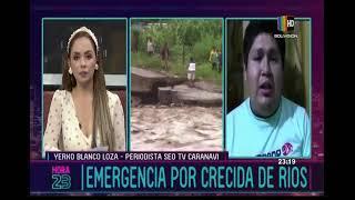 Emergencia en Caranavi por crecida de río