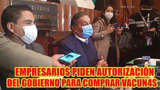 BOLIVIA CÁMARA NACIONAL DE COMERCIO ROLANDO KEMPFF PIDE QUE GOBIERNO LE AUTORICE COMPRAR V4CUNAS..