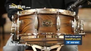 Metro Drums 5.5x14 Jarrah Ply Snare Drum-Rosewood Satin Quick n' Dirty