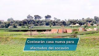 """Casa """"devorada"""" por socavón. Gobierno de Puebla costeará nuevo hogar para afectados"""
