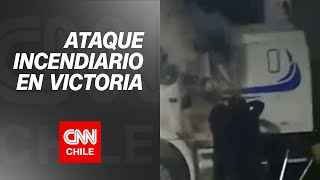 Ataque en Victoria terminó con 4 heridos y 6 camiones quemados