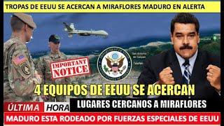 4 equipos de EEUU se acercan a Maduro a minutos de Miraflores