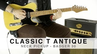 SUHR CLASSIC T ANTIQUE™ - NECK PICKUP - BADGER 30