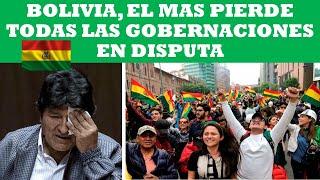 BOLIVIA, EL MAS PERDIO TODAS LAS GOBERNACIONES EN DISPUTA