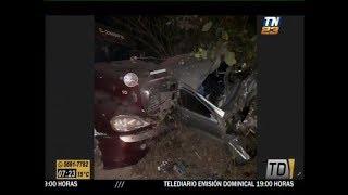 Vehículo y tráiler colisionan en la ruta a El Zarco