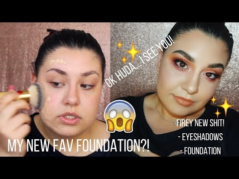 connectYoutube - OK HUDA... I SEE YOU! HUDA BEAUTY Foundation First Impressions/Review + Fiery Shit! | Celina Pereira