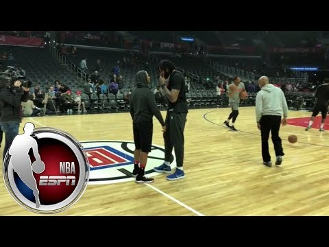 connectYoutube - Chris Paul warms up, speaks with Clippers ex-teammates and fans | ESPN
