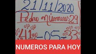 NUMEROS PARA HOY 21 DE NOVIEMBRE PARA TODAS LAS LOTERIAS
