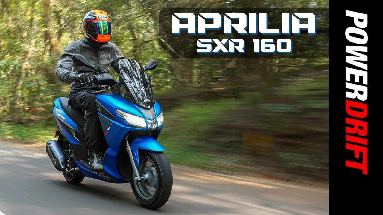 Giveaway Alert | Aprilia SXR 160 | First Ride Review | PowerDrift