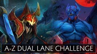 Dota 2 A-Z Dual Lane Challenge - Nightstalker and Nyx Assassin