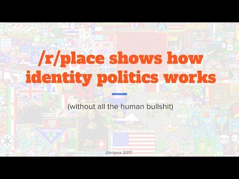 /r/place shows how identity politics works (without all the human bullshit)