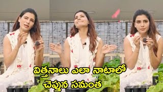 Actress Samantha About Seeding In Home Garden | Samantha Akkineni Latest Video - RAJSHRITELUGU