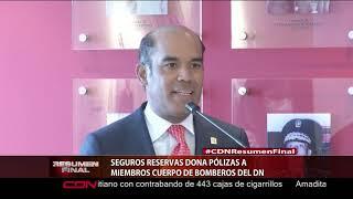 Seguros Reservas dona pólizas a miembros Cuerpo de Bomberos del DN