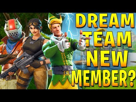 TRYING OUT A NEW MEMBER FOR THE DREAM TEAM W/Dasha (Fortnite Tryhard Squads)