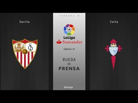 Rueda de prensa Sevilla vs Celta