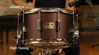 Pork Pie 8x14 Maple Snare Drum Root Beer Metallic Flat Quick 'n' Dirty
