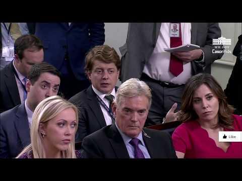 Sarah Sanders Briefs News Reporters on Trump's latest