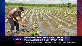 INDRHI rinde tributo a agricultores en su día y reconoce aporte de productores