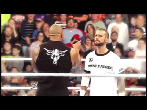 connectYoutube - WWE CM Punk Vs The Rock - Royal Rumble - Clement Marfo