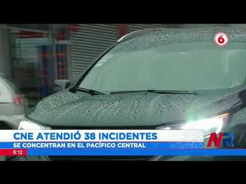 CNE atendió 38 incientes por lluvias