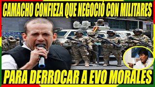 Camacho Revela Que Negociaron Con Policías y Militares Para la Caída de Evo Morales