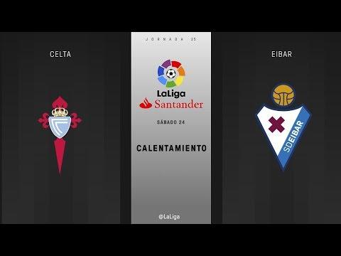 Calentamiento Celta vs Eibar