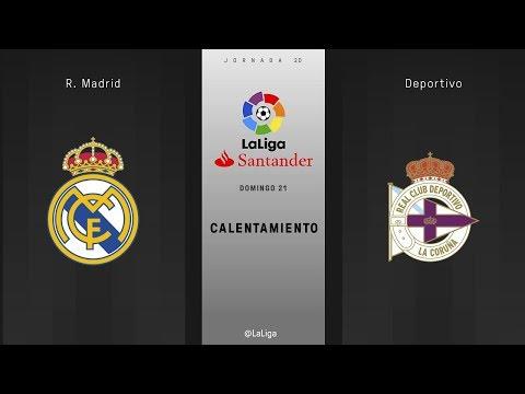 Calentamiento R. Madrid vs Deportivo