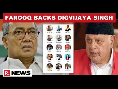 Farooq Abdullah Backs Digvijaya Singh's Remark To 'Relook Art 370'; Asks Centre To Consider