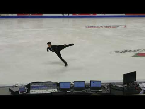 Nathan Chen Quad Flip Men's SP Warm-up - 2018 U.S. Nationals, 2018.01.04