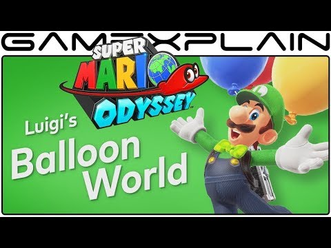Super Mario Odyssey - New Details Revealed on Luigi's Balloon World (Weather & Time of Day Changes)