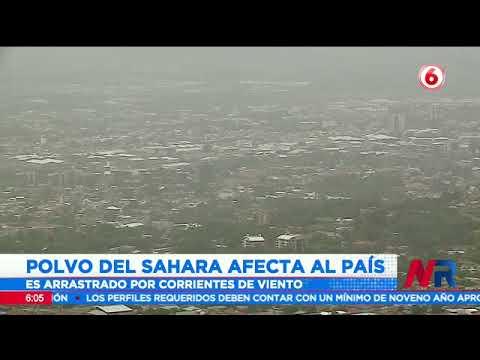 Polvo del Sahara afecta al país