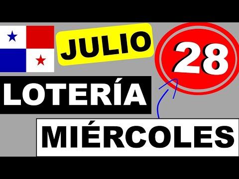 Resultados Sorteo Loteria Miercoles 28 de Julio 2021 Loteria Nacional de Panama Miercolito Que Jugo
