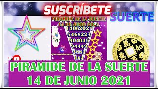Piramide de la Suerte Para Hoy 14 de Junio 2021