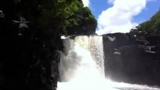 Mauritius boat trip waterfall