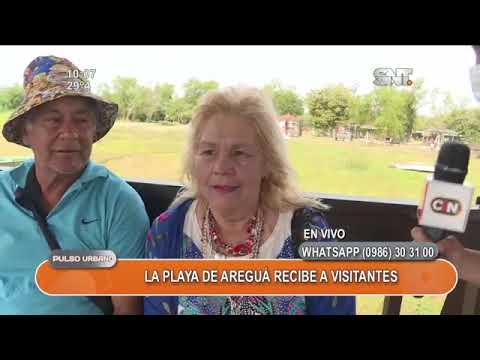 Playa de Areguá recibe a visitantes
