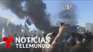 Manifestantes atacan la embajada de Estados Unidos en Bagdad   Noticias Telemundo
